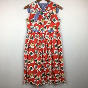 vintage • calendar sleeveless fit & flare dress